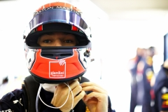 SHANGHAI, CHINA - APRIL 13: Pierre Gasly of France and Red Bull Racing prepares to drive in the garage during qualifying for the F1 Grand Prix of China at Shanghai International Circuit on April 13, 2019 in Shanghai, China. (Photo by Mark Thompson/Getty Images)