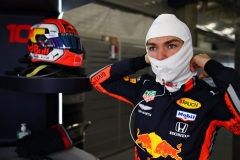 SHANGHAI, CHINA - APRIL 12: Pierre Gasly of France and Red Bull Racing prepares to drive in the garage during practice for the F1 Grand Prix of China at Shanghai International Circuit on April 12, 2019 in Shanghai, China. (Photo by Mark Thompson/Getty Images)